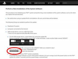 468px Ps4 updatepage ign 450x344 300x229 آموزش تعویض هارد کنسول PlayStation 4