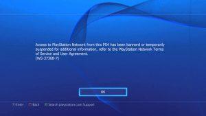 PS4 Console Ban Message 1 300x169 همه چیز درباره بن شدن کنسول و اکانت PS4